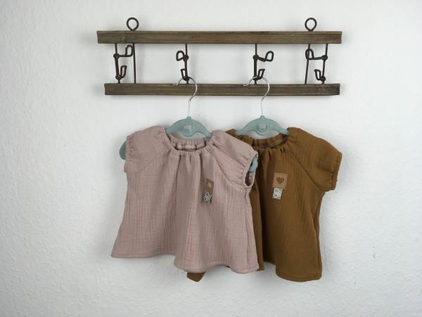 Musselinbluse Kurzarm Baby Bluse Mädchen