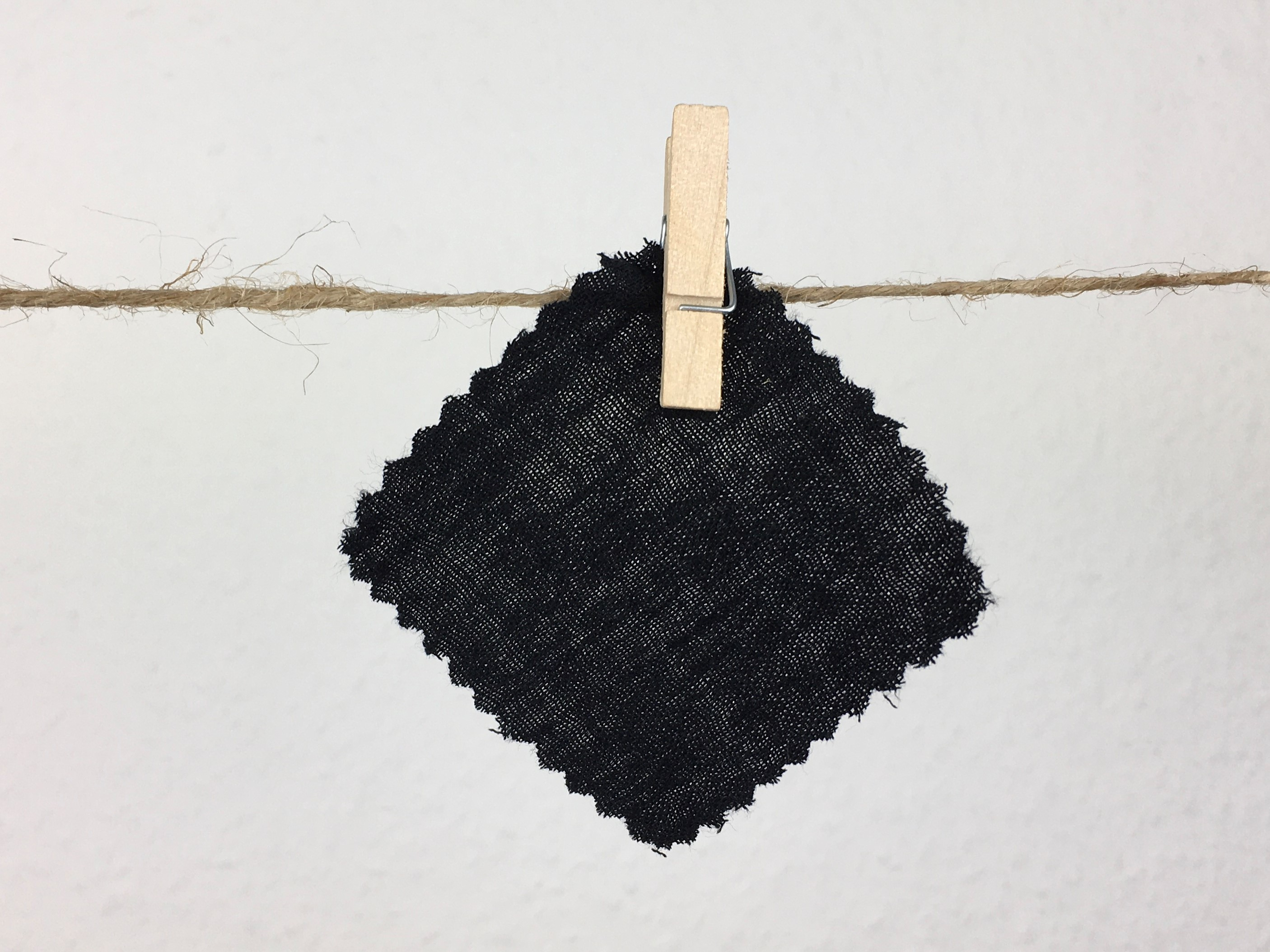 schwarz musselintuch