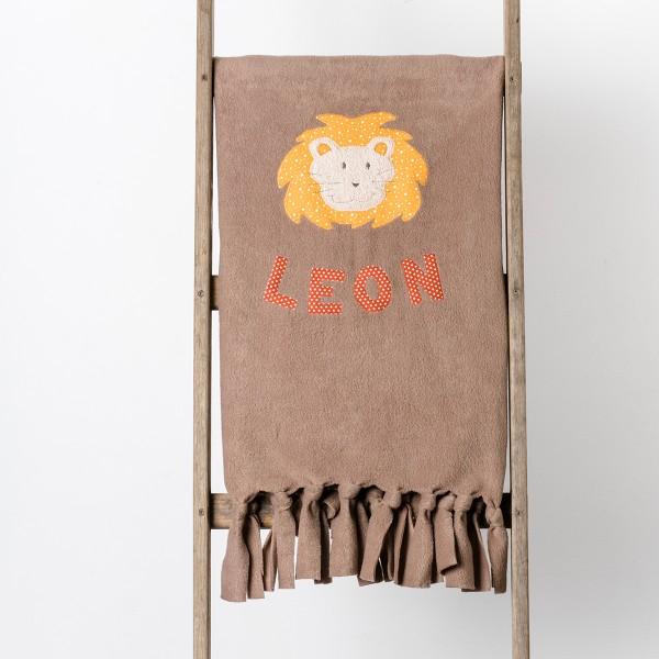 Kuscheldecke Löwe-Motiv